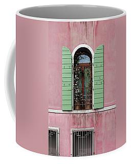 Venice Window In Pink And Green Coffee Mug by Brooke T Ryan