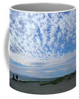 Ventura Beach With Blue Sky And  Puffy Clouds Coffee Mug