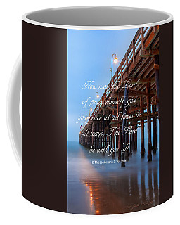 Ventura Ca Pier With Bible Verse Coffee Mug