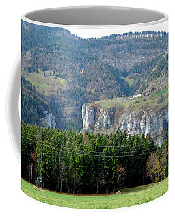 Vercors Mountain Range In Autumn Coffee Mug