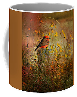 Vermilion Flycatcher At St. Marks Coffee Mug