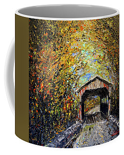 Coffee Mug featuring the painting Vermont by Alan Lakin