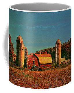 Coffee Mug featuring the photograph Vermont Autumn Barn by Deborah Benoit