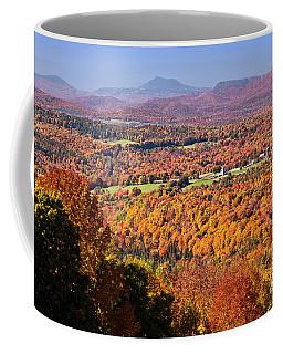 Coffee Mug featuring the photograph Vermont Autumn Vista by Alan L Graham