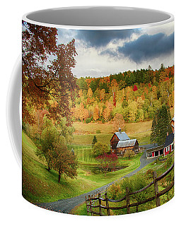 Coffee Mug featuring the photograph Vermont Sleepy Hollow In Fall Foliage by Jeff Folger