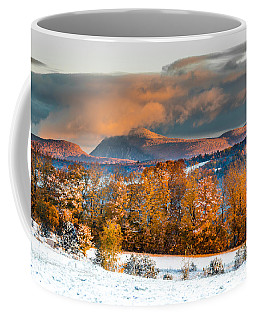 Vermont Snowliage Scene Coffee Mug by Tim Kirchoff
