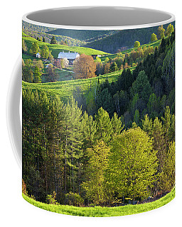 Coffee Mug featuring the photograph Vermont Spring Countryside by Alan L Graham