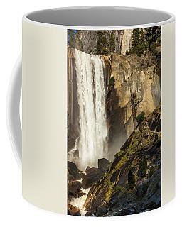 Vernal Falls And Hiker - Yosemite Coffee Mug
