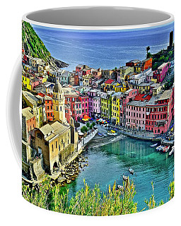 Vernazza Alight Coffee Mug by Frozen in Time Fine Art Photography