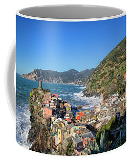 Coffee Mug featuring the photograph Vernazza In Cinque Terre by Cheryl Strahl
