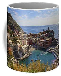 Coffee Mug featuring the photograph Vernazza by Spencer Baugh