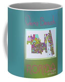 Vero Beach Map2 Coffee Mug by Megan Dirsa-DuBois