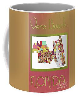 Vero Beach Map3 Coffee Mug