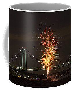 Verrazano Narrows Bridge At 50 Years Old Coffee Mug