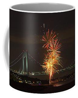 Verrazano Narrows Bridge At 50 Years Old Coffee Mug by Kenneth Cole
