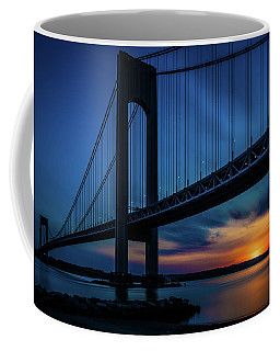 Coffee Mug featuring the photograph Verrazano Sunset by Chris Lord