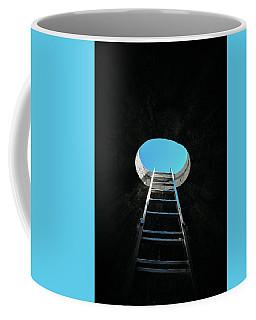 Vertical Step-ladder On Ceiling Window  Coffee Mug