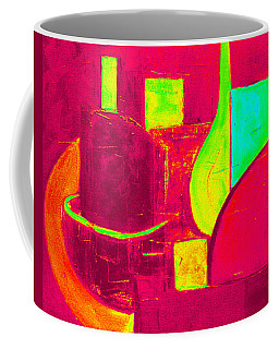 Coffee Mug featuring the painting Vessels Very Colorful by VIVA Anderson