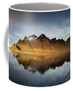 Coffee Mug featuring the photograph Vestrahorn Panao by Allen Biedrzycki