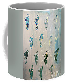 Coffee Mug featuring the painting Vestige by Robin Maria Pedrero