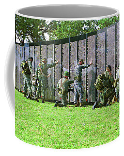 Coffee Mug featuring the photograph Veterans Memorial by Carolyn Marshall