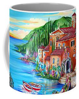 Via Positano By The Lake Coffee Mug by Roberto Gagliardi