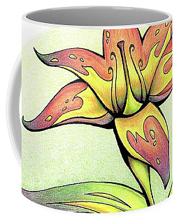 Vibrant Flower 4 Tiger Lily Coffee Mug
