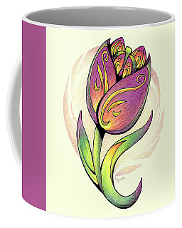 Vibrant Flower 5 Tulip Coffee Mug