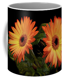 Coffee Mug featuring the photograph Vibrant Gerbera Daisies by Terence Davis