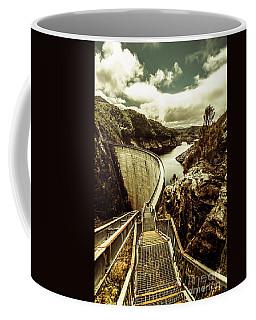Vibrant River Dam Coffee Mug