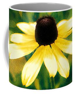 Vibrant Yellow Coneflower Coffee Mug by Judy Palkimas