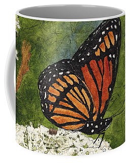 Viceroy Butterfly On Queen Anne's Lace Watercolor Batik Coffee Mug