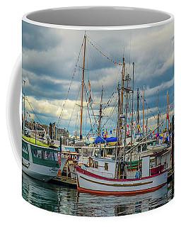 Victoria Harbor Boats Coffee Mug