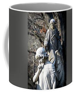 Victorian Angel Contemplating Coffee Mug