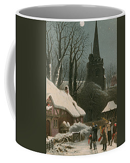 Victorian Christmas Scene With Band Playing In The Snow Coffee Mug