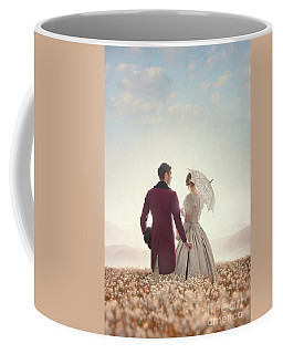 Victorian Couple Standing In A Meadow Coffee Mug by Lee Avison