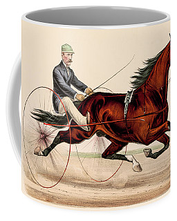 Victorian Horse Carriage Race Coffee Mug