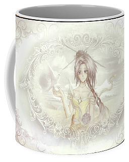 Coffee Mug featuring the mixed media Victorian Princess Altiana by Shawn Dall
