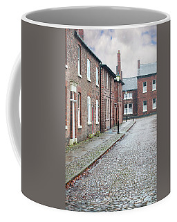 Victorian Terraced Street Of Working Class Red Brick Houses Coffee Mug by Lee Avison