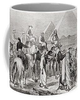 Victorian Tourists At The Pyramids Coffee Mug