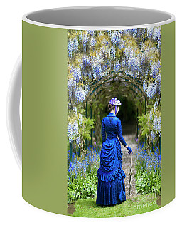 Victorian Woman With Wisteria Coffee Mug