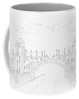 Vienna River Portal In Stadtpark, Vienna - Hand Drawing Coffee Mug