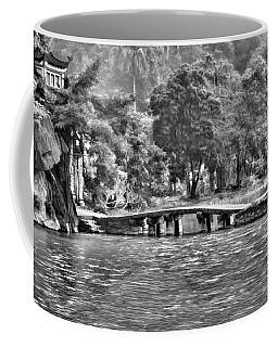 Vietnam Digital Oil Bw Coffee Mug by Chuck Kuhn
