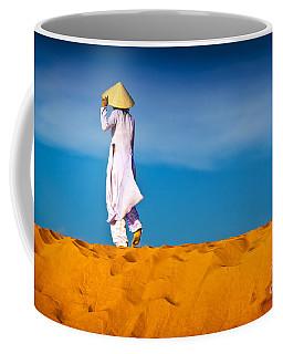 Vietnamese Woman In The Red Sand Dunes Mui Ne Vietnam Coffee Mug