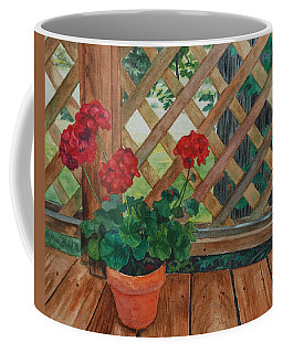 View From A Deck Coffee Mug by Lynne Reichhart