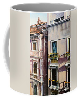 View From A Venetian Window Coffee Mug by Marlene Book
