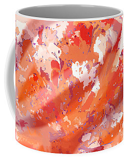 View From Above In Orange Coffee Mug