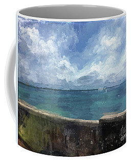 Coffee Mug featuring the digital art View From Bermuda Naval Fort by Luther Fine Art