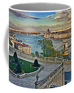 View From Castle Hill, Budapest, Hungary Coffee Mug by Jim Pavelle