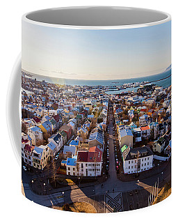 View From Hallgrimskirka Coffee Mug by Wade Courtney